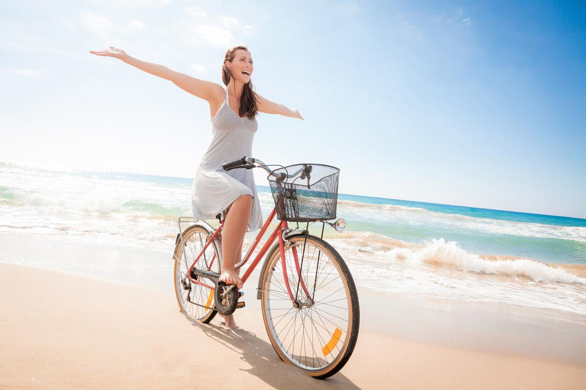 Vélo sur la plage